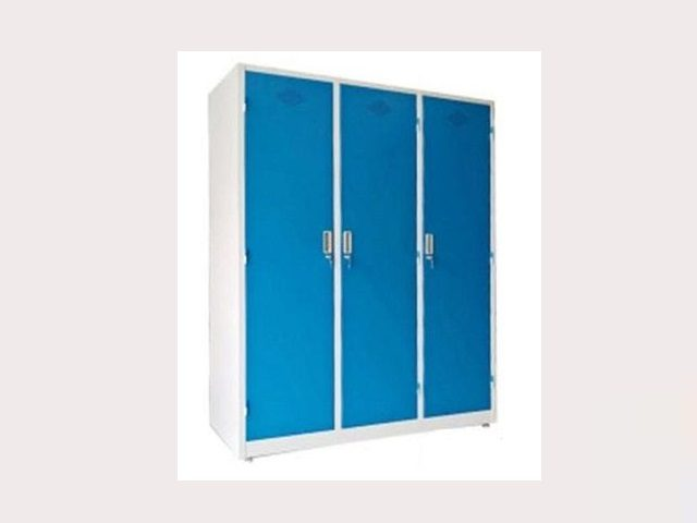 Tủ sắt đựng quần áo Xuân Hòa 3 cánh màu xanh