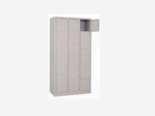 Tủ sắt locker 18 ngăn khóa an toàn LK18N-03
