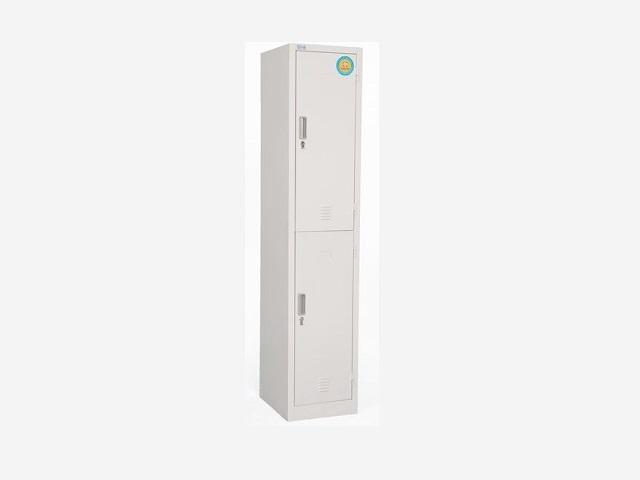 Tủ sắt locker 2 cánh màu ghi LK2N-01