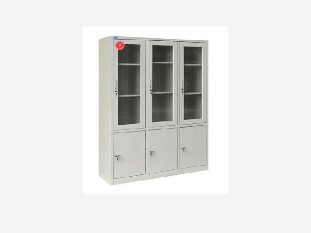 Tủ sắt văn phòng giá rẻ 3 cánh kính