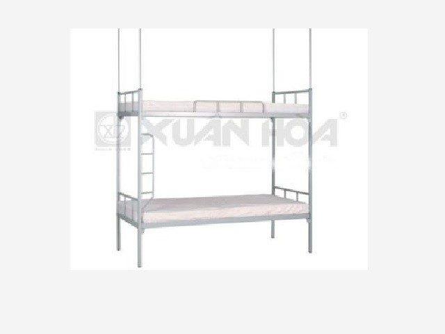 Giường sắt 2 tầng Xuân Hòa sơn tĩnh điện