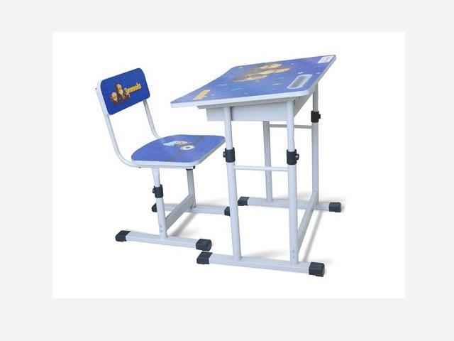 Bàn ghế học sinh tiểu học BHS13-06 xanh