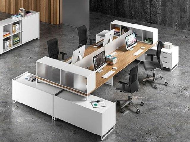 Bàn gỗ làm việc văn phòng giá rẻ BVP-BN451