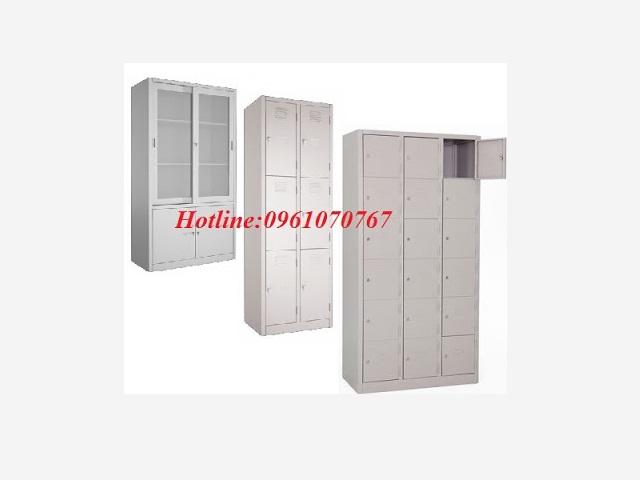 Tủ sắt locker sơn tĩnh điện giá rẻ màu ghi