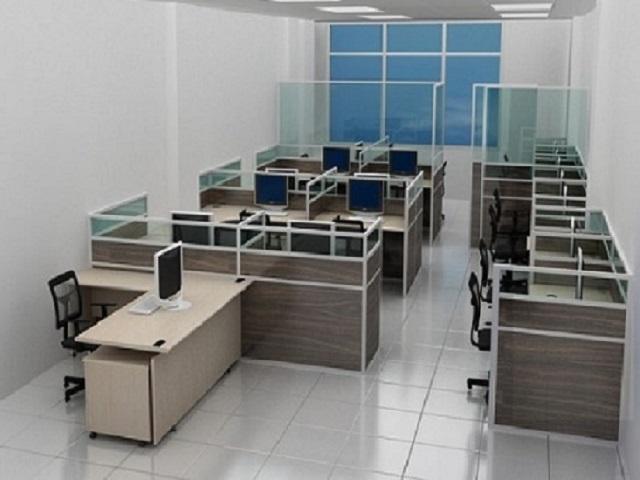 Vách găn văn phòng gỗ VN-BN296
