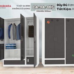 Tủ sắt quần áo CA9A-1KG