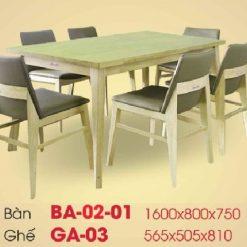 Bàn ghế ăn cao cấp BA01-01